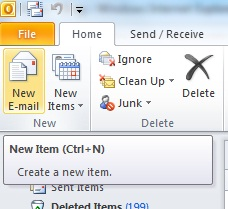 Outlook2010 Keyboard Shortcut