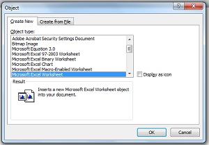 how to put a spreadsheet into word