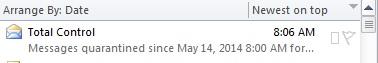 eMail Quarantine Alert