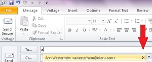 Outlook Delete Autocomplete