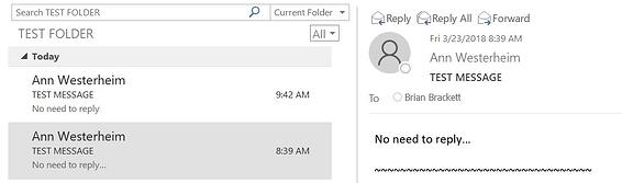 Help! Sent Items Folder in Outlook Only Shows My Name