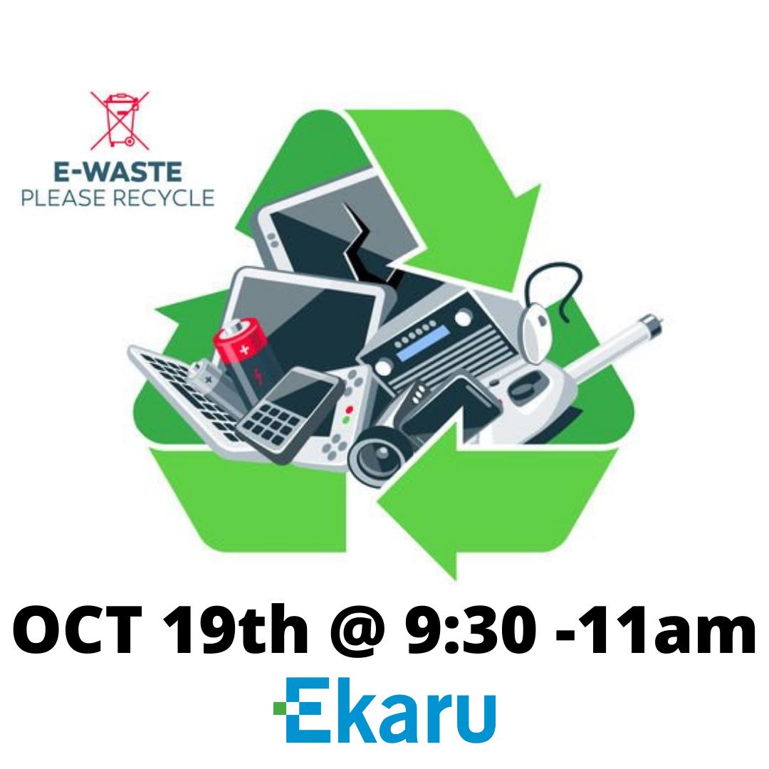 10/19/2021 - Electronics Recycling and Hard Drive Shredding