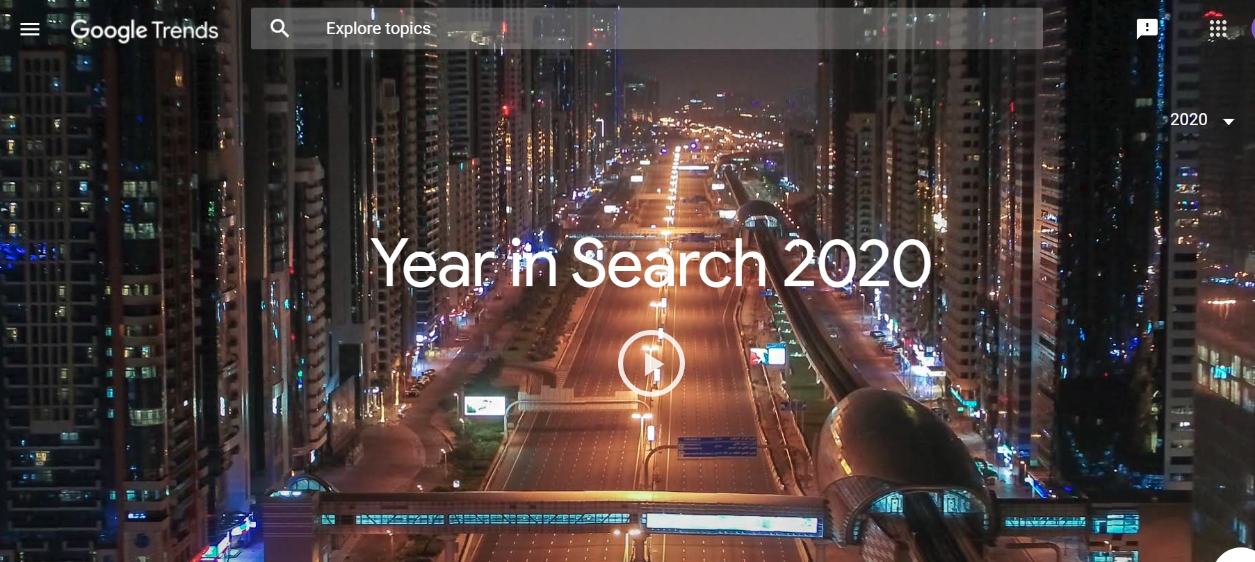 Google Top Searches 2020 - The Year of